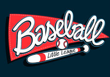 Baseball league childrens banner background Stock Image