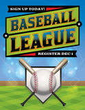 Baseball League Illustration Royalty Free Stock Photos