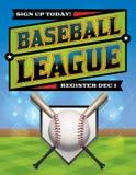 Baseball League Illustration Royalty Free Stock Photos