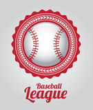 Baseball league. Over gray background vector illustration Stock Photo