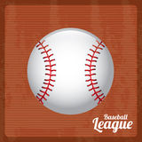 Baseball league. Over vintage background vector illustration Royalty Free Stock Photos