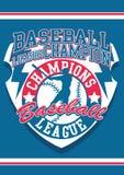 Baseball league. Vector illustration for baseball sport Stock Photos