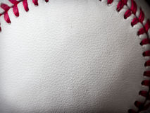 Baseball leather. Background texture close up Royalty Free Stock Photo