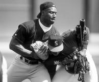 Baseball-Legenden BO Jackson und Ken Griffey, jr. lizenzfreie stockfotos