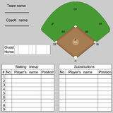 Baseball lineup Royalty Free Stock Photo