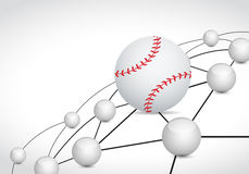 Baseball link sphere network connection concept Stock Photo
