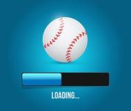 Baseball loading bar illustration design Stock Photos