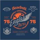 Baseball logo, emblem, badge and design elements. Vector illustration Royalty Free Stock Photo