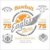 Baseball logo, emblem, badge and design elements. Vector illustration Royalty Free Stock Photos