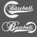 Baseball Logotpe lizenzfreie abbildung