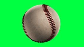 BaseBall. Loop seamless, isolated on green screen royalty free illustration