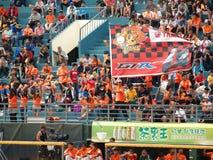 baseball luftar glädjande taiwan Royaltyfri Foto