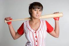 Baseball-Mädchen Stockfoto