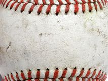 Baseball Macro. Macro image of a used baseball Royalty Free Stock Images