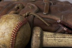 Baseball macro Royalty Free Stock Images