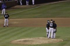 Baseball - Marlins opowiadają strategię Zdjęcia Stock