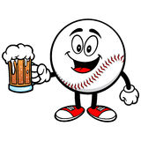 Baseball Mascot with Beer Stock Image