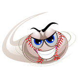 Baseball Mascot being Hit. Vector Illustration of Baseball Mascot being Hit Royalty Free Stock Image