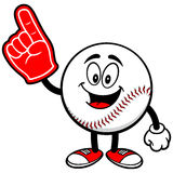 Baseball Mascot with Foam Finger Stock Photo