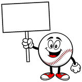 Baseball Mascot with Sign Royalty Free Stock Photos