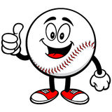 Baseball Mascot with Thumbs Up Royalty Free Stock Photo