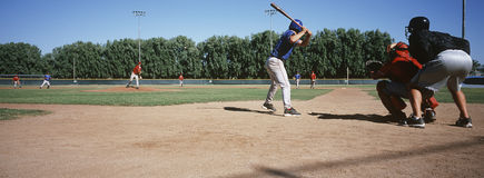Baseball Match. Between two teams on ground Royalty Free Stock Image