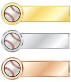 Baseball medals. Isolated on the white background. Vector Stock Photography