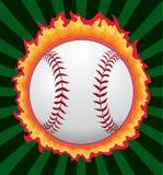 Baseball mit Flammen stock abbildung
