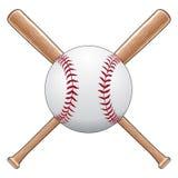 Baseball mit Hieben Lizenzfreie Stockfotografie