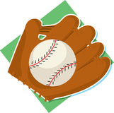 Baseball and Mitt. Baseball and glove on a white background Royalty Free Stock Photos