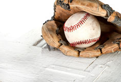 Baseball and mitt Stock Photos
