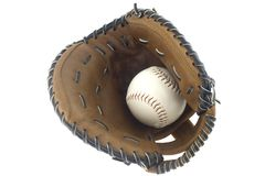 Baseball and mitt Royalty Free Stock Image