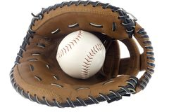 Baseball and mitt Royalty Free Stock Photography