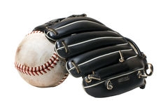 Baseball mitt and ball Royalty Free Stock Images