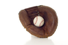Baseball Mitt and Ball Stock Image
