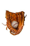 Baseball Mitt with Ball Royalty Free Stock Photo