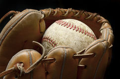 Baseball Mitt and Ball Royalty Free Stock Photos