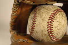 Baseball and Mitt or Glove Royalty Free Stock Photography