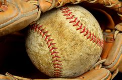 Baseball and Mitt or Glove Stock Images