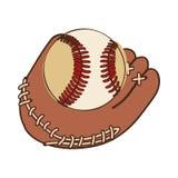 Baseball mitt icon image Royalty Free Stock Image