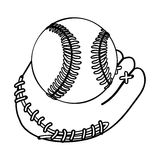 Baseball mitt icon image Royalty Free Stock Images
