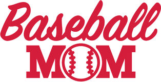 Baseball Mom. With red ball royalty free illustration