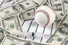 Baseball, Money, and Drugs Royalty Free Stock Photos