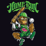 Baseball Monkey. T-shirt or poster print design stock illustration