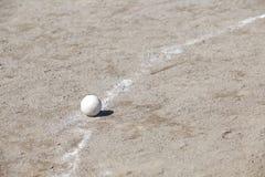 Baseball na miotacza kopu Zdjęcie Royalty Free