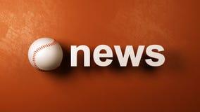 Baseball-Nachrichten lizenzfreie abbildung