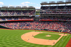 Baseball - Nationals Park from Left Field. A view of Nationals Park from high in left field, home of the Major League Baseball Washington Nationals, on a Stock Photography