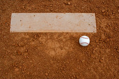 Baseball near the Pitchers Mound Royalty Free Stock Photos