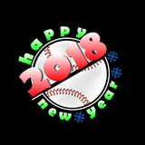 Baseball and New Year 2018 Stock Images