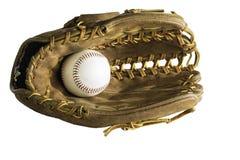 Baseball och handske Arkivfoto